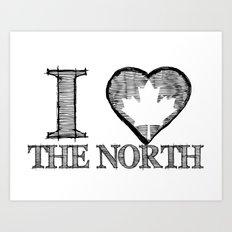 I Heart North Art Print