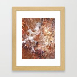 Coffee Stains Framed Art Print