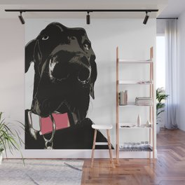 Black Great Dane Dog Wall Mural
