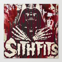 sith Canvas Prints featuring Sithfits - Sith Bloody Sith by Sithfits