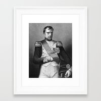 napoleon Framed Art Prints featuring Napoleon by Palazzo Art Gallery