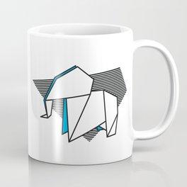 Origami Elephant Coffee Mug