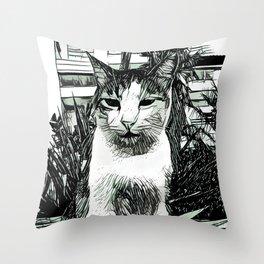 Street Cat XVI Throw Pillow