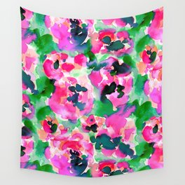 Abstract Flora Green Wall Tapestry