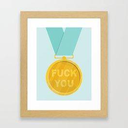 Fuck You Medal Framed Art Print