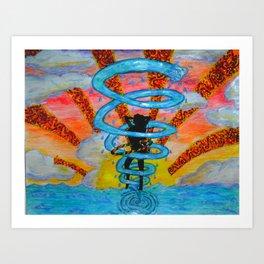 Whirled Hooper Art Print