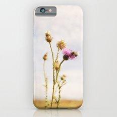 Autumn Botanical Landscape -- Purple Thistle Flower with Bee iPhone 6s Slim Case