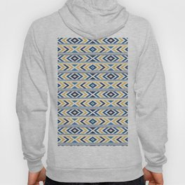 Navy & Gold Tribal Pattern 05 Hoody