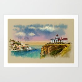 The Island Of Kefalonia, Greece Art Print