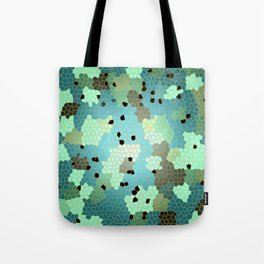 Turquoise Mosaic small pattern Tote Bag