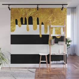 Gold Drips Wall Mural