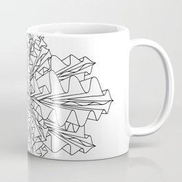 starburst line art - white Coffee Mug
