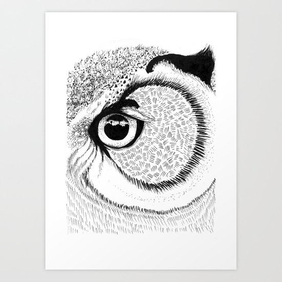 Owl Eye Art Print