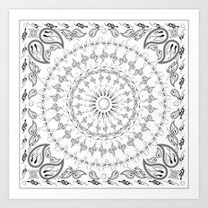 paisley sperm Art Print
