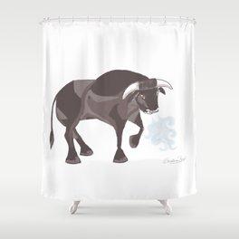 Spain Bull Shower Curtain
