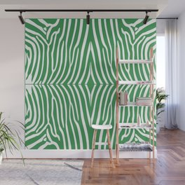 Kelly Green Zebra Wall Mural