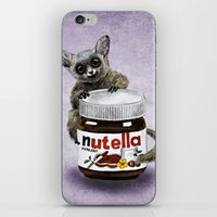 nutella iPhone & iPod Skins featuring Sweet aim // galago and nutella by Anna Shell