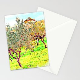 Laureana Cilento: silos in the olive grove Stationery Cards