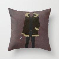durarara Throw Pillows featuring Izaya Orihara by JHTY