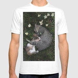 Sleep [A CAT AND A KITTEN] T-shirt