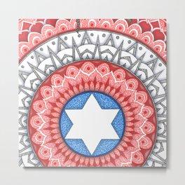 Captain (Star of David) America Metal Print