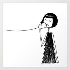 Eloise and Ramona play telephone - Part 2 Art Print
