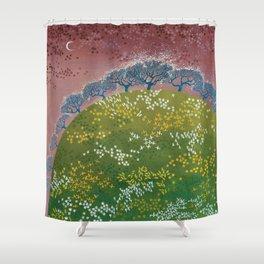 fairy garden,original oil painting, green planet Shower Curtain