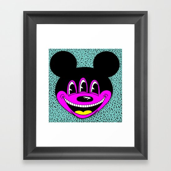 ANOTHER MICKEYES.  (Yellow Tongue). Framed Art Print