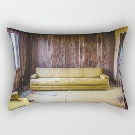 Couch, The Yellow House, Arena, North Dakota 8 Rectangular Pillow