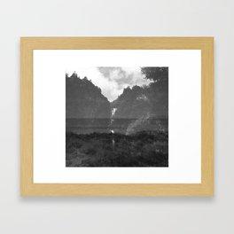 Kitekite Falls Framed Art Print