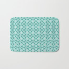 Project 503  |  White Lace on Teal Green Bath Mat