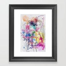 anywhere but here Framed Art Print