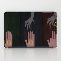 the lord of the rings iPad Cases featuring Lord of the Rings Minimalist Posters: Trilogy by Matt Humphrey