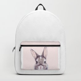 Baby Rabbit, Bunny With Pink Background, Baby Animals Art Print By Synplus Backpack