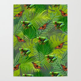Frogs and Monarchs Poster