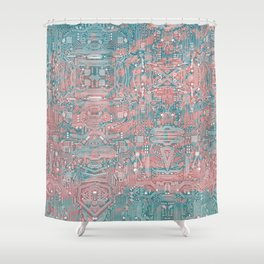 Circuitry Details 2 Shower Curtain