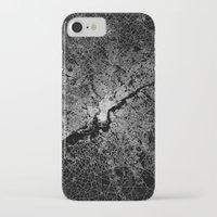 philadelphia iPhone & iPod Cases featuring philadelphia map by Line Line Lines