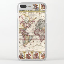 1652 Map of the World, Doncker Sea Atlas World Map Clear iPhone Case