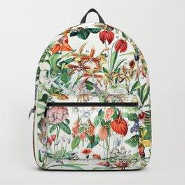 Adolphe Millot - Fleurs D - French vintage poster Backpack