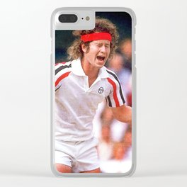 McEnroe Tennis Clear iPhone Case