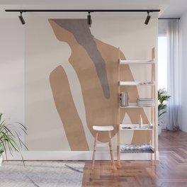 abstract minimal girl Wall Mural
