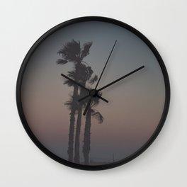 Sunset Palms Wall Clock