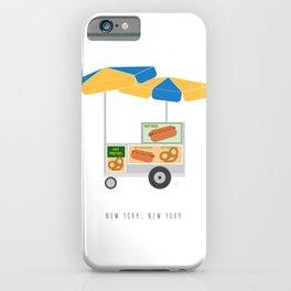 New York City, NYC Hot Dog & Pretzel Cart iPhone Case