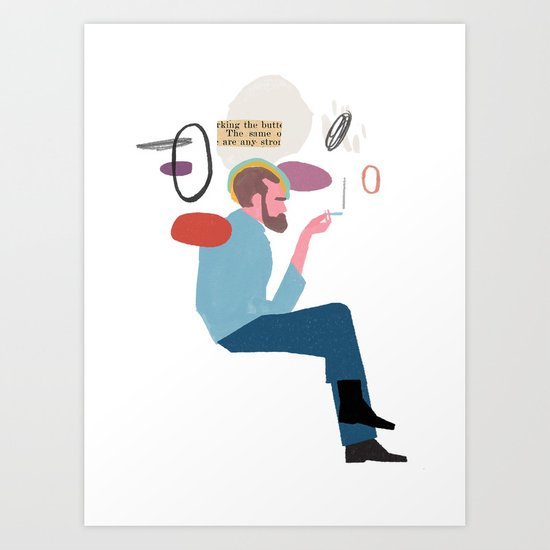 Submission sitting Art Print