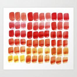 Brushstroke Colour Mixing 3 Art Print
