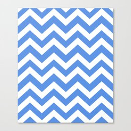 United Nations blue - blue color - Zigzag Chevron Pattern Canvas Print