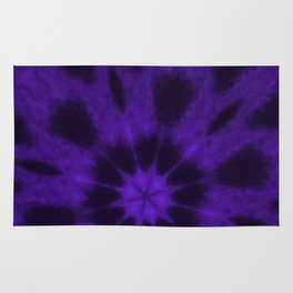 Spotted Leopard Purple Kaleidoscope Rug