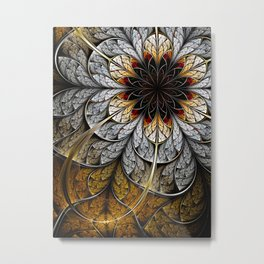 Flower II - Abstract Fractal Artwork Metal Print