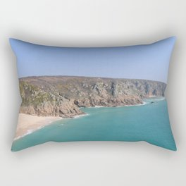 Porthcurno Panorama Rectangular Pillow