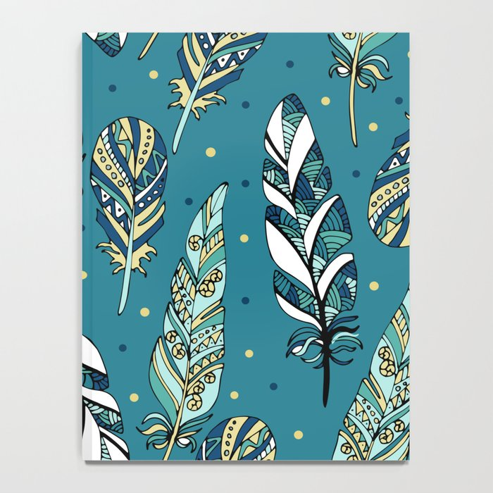 Blue feathers Notebook